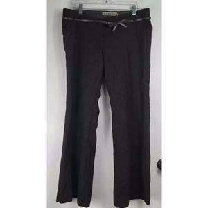 Kangol Dress Pants Brown Flat Front Wool Blend 14